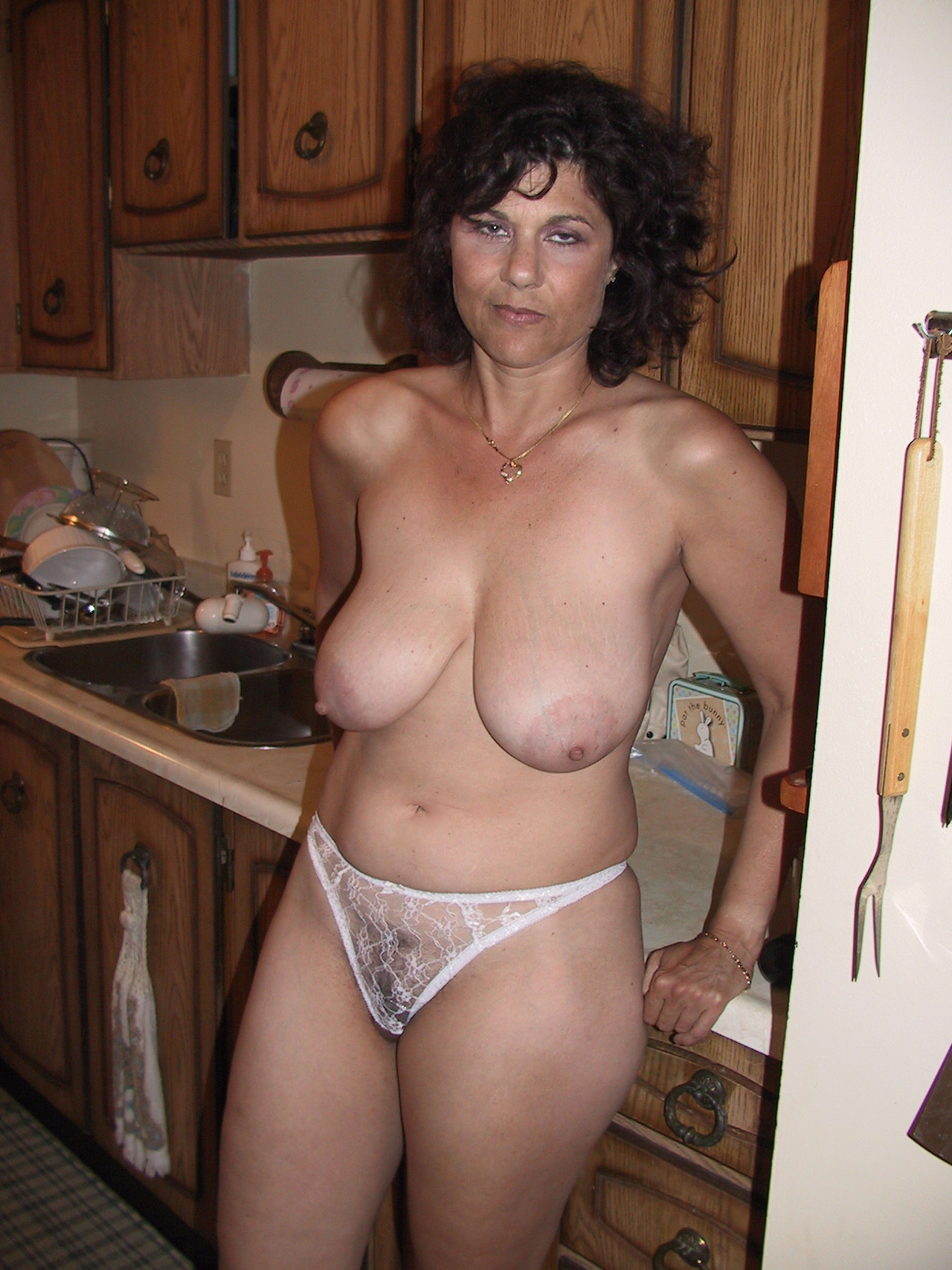 Mature milf with big saggy tits special